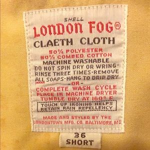 Vintage London Fog lined Top Coat